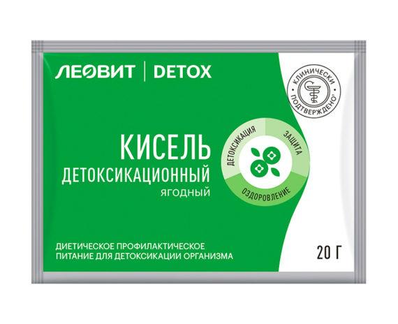 Кисель детоксикационный ягодный (с Клубникой) ЛЕОВИТ DETOX