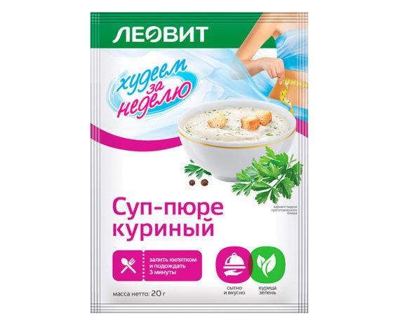 Суп-пюре куриный Леовит
