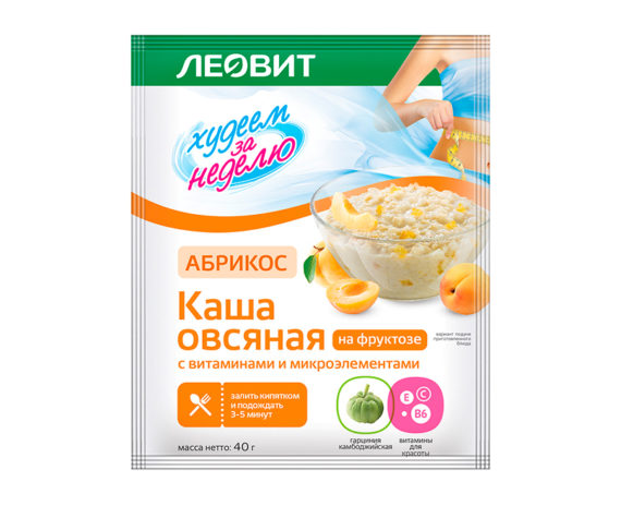 Леовит Каша овсяная Абрикос