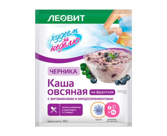 Леовит Каша овсяная Черника