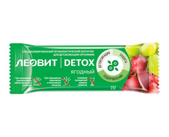 Леовит Батончик детоксикационный ягодный
